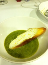 Artichoke Soup with Lemony Goat CheeseToasts