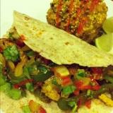 "Veggie Fajitas and ""Spanish"" Quinoa withKale"