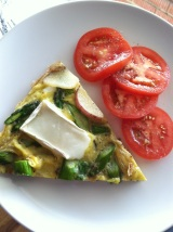 Asparagus, Potato, Goat Milk Brie Cheese Frittata