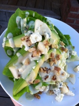 Butter Lettuce Wedge Salad with Gorgonzola Pear Dressing