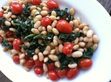 Tomato, Spinach and White Bean Sauté
