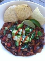 Quinoa Black Bean Chili with Sneaky Zucchini
